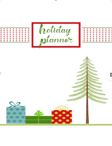 Christmas Planner Front Page