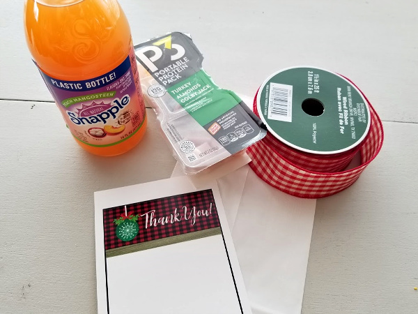 Items for a thank you bag