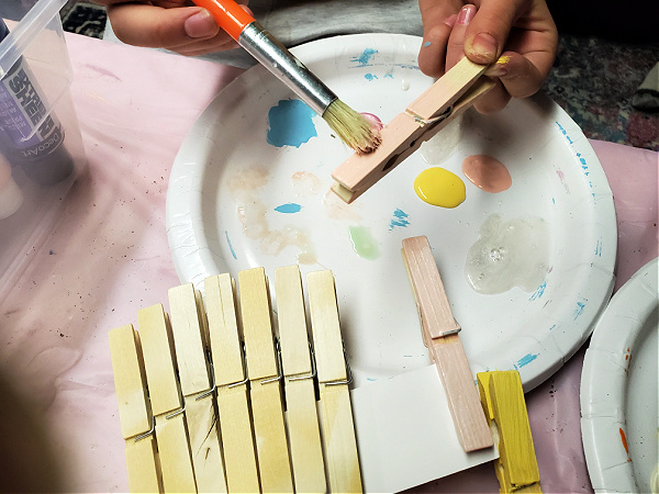 painting clothespins