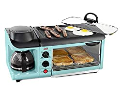 a grill, toaster, and coffee maker all in one