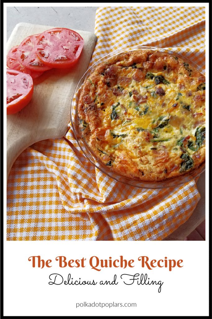 breakfast pie and tomatoes