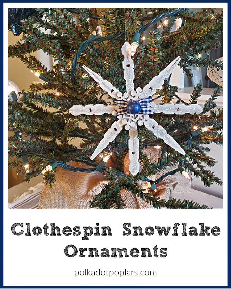 Snowflake Ornament Made With Clothespins